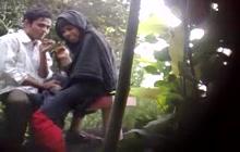 Indian amateur couple in park