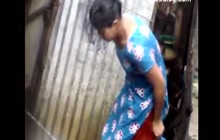 Sweet Indian girl caught stripping