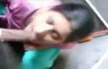 Amateur Indian woman sucking cock