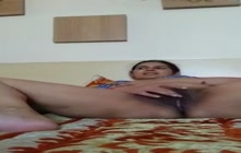 Desi aunty plays with her pussy