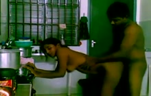 Indian slut fucked doggy style in the kitchen
