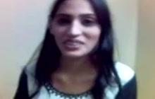 Indian slut shows her tits