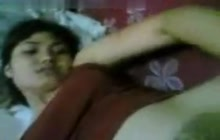 Indian playing with hairy pussy