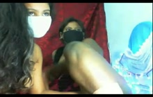 Lesbian Indian couple on webcam